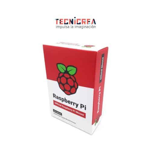 Ratón oficial Raspberry Pi' en rojo y blanco