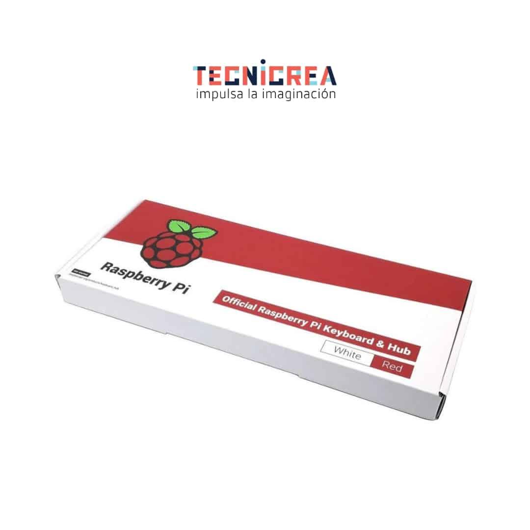 Teclado Oficial Raspberry Pi – versión española (Rojo/Blanco)